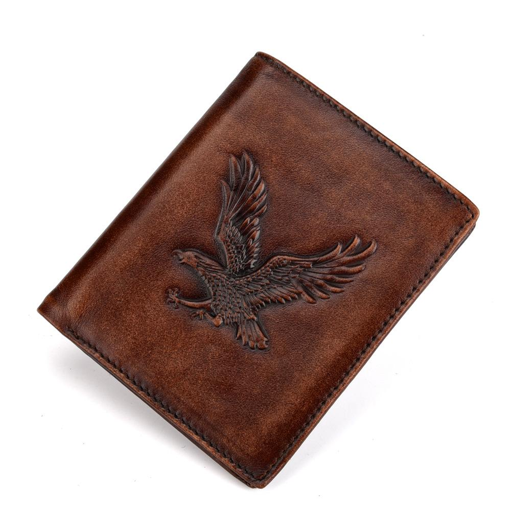 Man's RIFD Anti-Magnetic Dermis Retro-Embossed Wallet