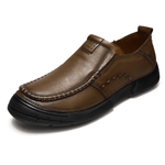 Men Cow Leather Slip On Soft Casual Shoes