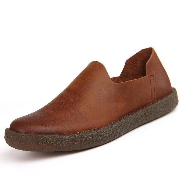 Men Scrub Genuine Leather Soft Casual Shoes