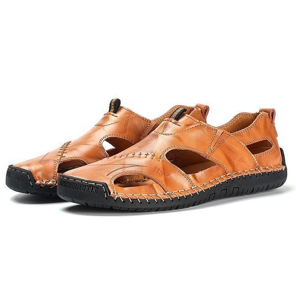 Large Size Genuine Leather Sandals