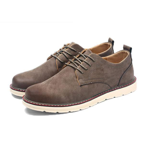 Men Leather Business Casual Driving Shoes