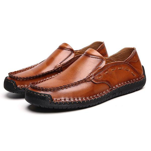 Large Size Handmade Leather Casual Shoes