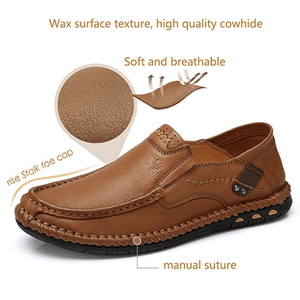 Men Handmade Genuine Leather Soft Sole Casual Shoes
