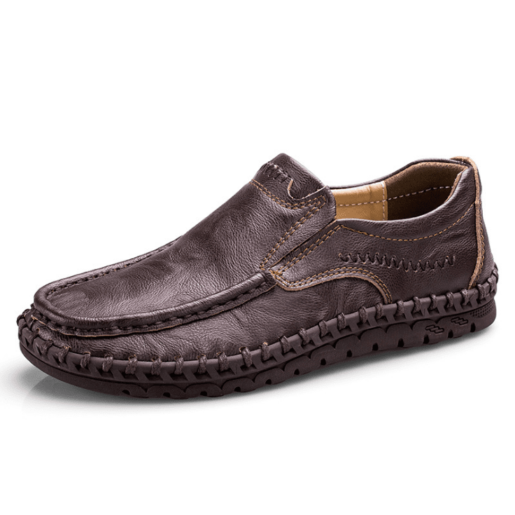 Genuine Leather Casual Slip On Loafers
