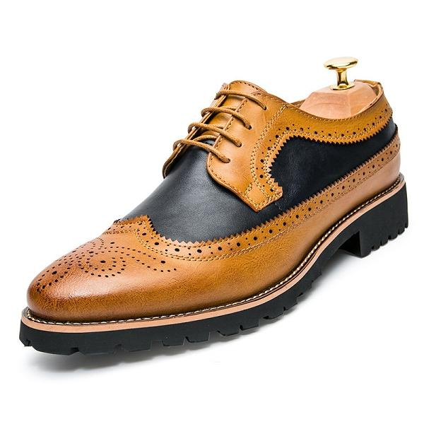 Bullock Carved Casual Leather Shoes