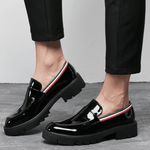 Men British Style  Comfy Patent Leather Loafers