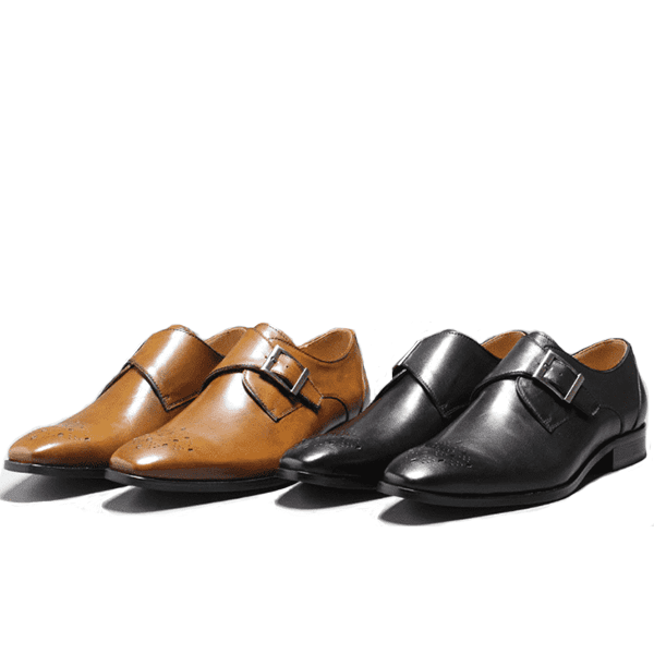 Handmade Genuine Leather Monk Shoes
