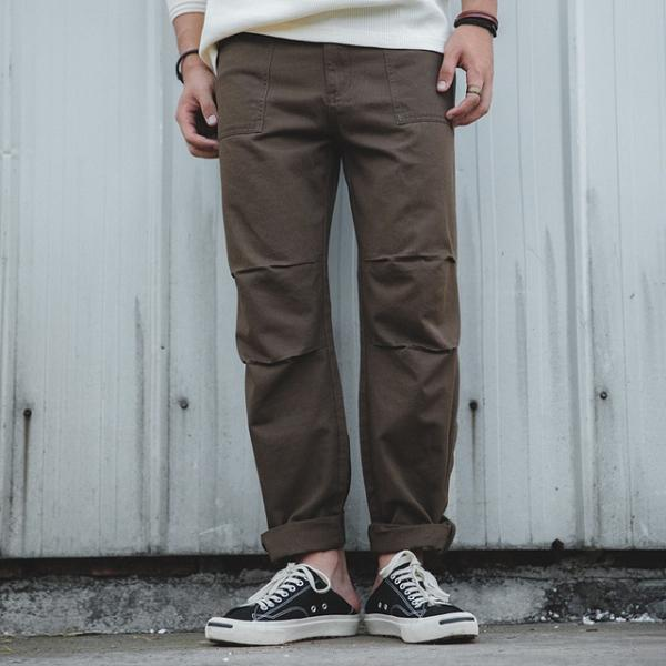Vintage Large Pocket Long Pants