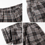 Plaid Loose Casual Pants