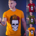 Men Pure color Skull T-Shirt