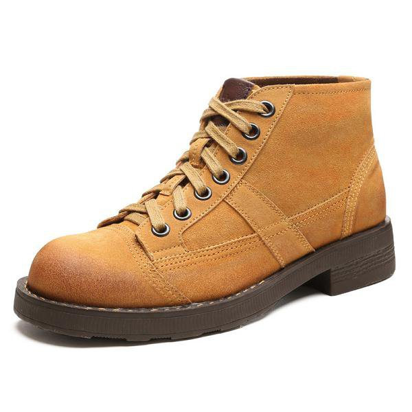 Men Genuine Leather Suede Boots