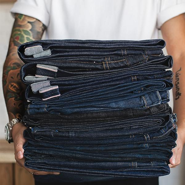 Men Solid Color Casual Jeans