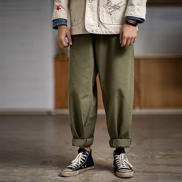 Army Green Loose Pants