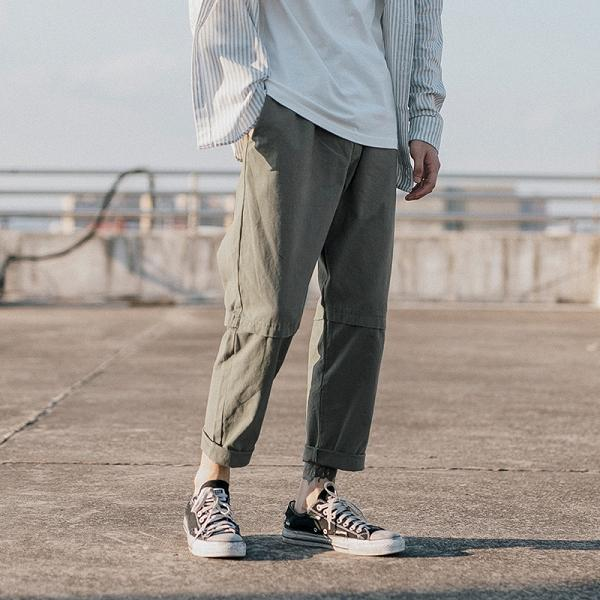 Pure Color Loose Casual Pants