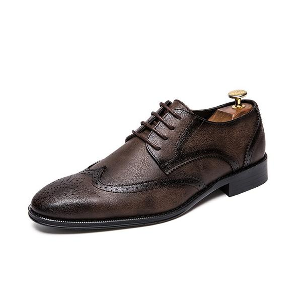 Bullock Carved Formal Casual Leather Shoes