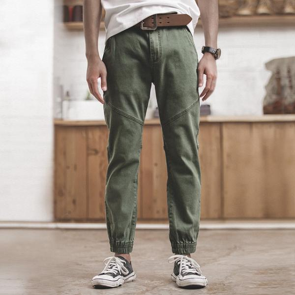 Men Straight Ankle-tied Casual Pants