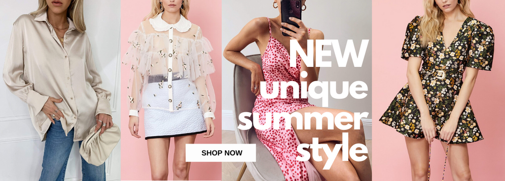 New unique summer style just dropped online at Uptown Bibi; mini, midi, maxi dresses, satin blouses, band t shirts, shorts, trousers and loungewear