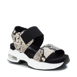 SONNIE chunky sole sneaker sandals - snake print