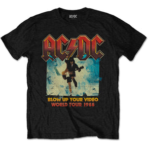 ACDC blow up your video graphic band tee - black.