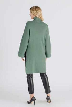 Asymmetric Jumper Dress - Green