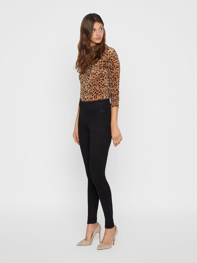 Noisy May Callie Black High Waist Skinny Fit Jeans.
