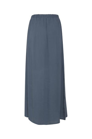 MARRAKECH co-ord maxi skirt with side splits - blue mirage