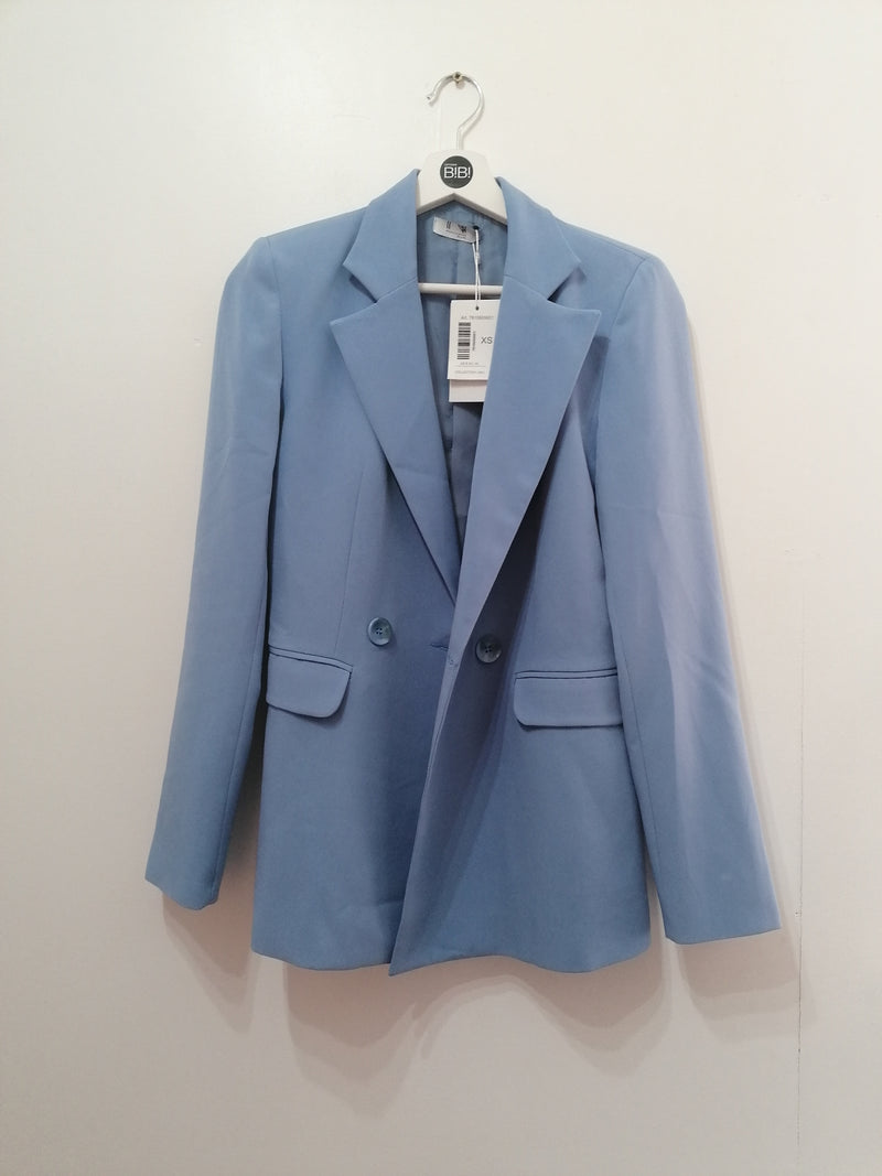 Double-breasted buttoned blazer - sky blue
