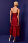 INDULGENT hi low midi dress - raspberry
