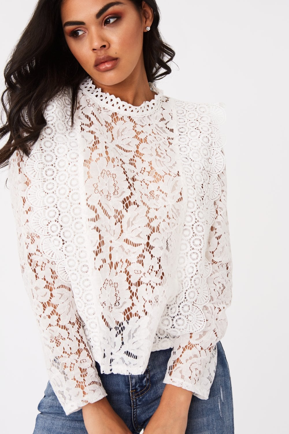 ISLA white lace top