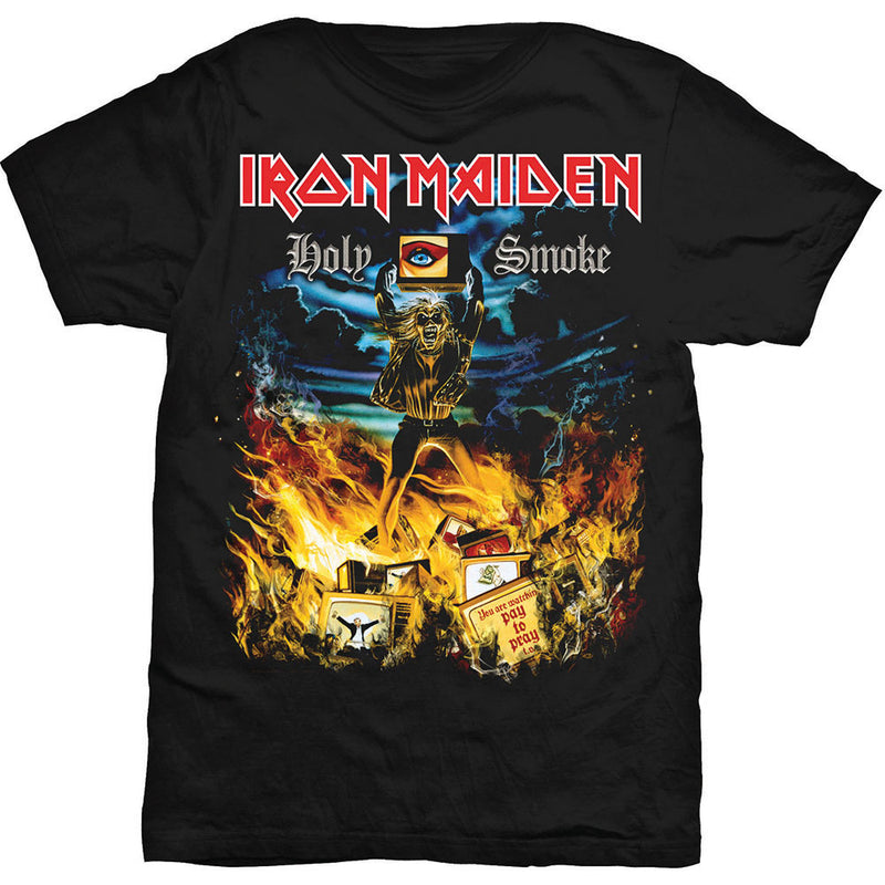 Back to the 90's with this awesome Iron Maiden cover art tee. Depicting the album art from the 1990 single.