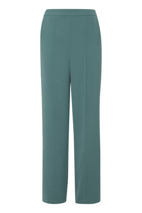 JEANNE highwaisted wide leg trousers - smoke pine