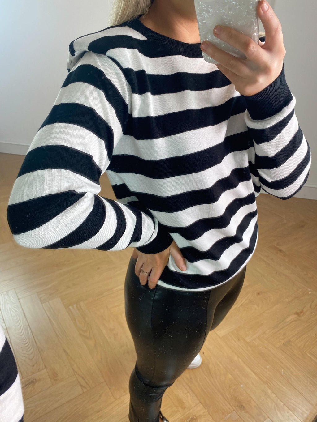 Kate Striped Jumper - Black