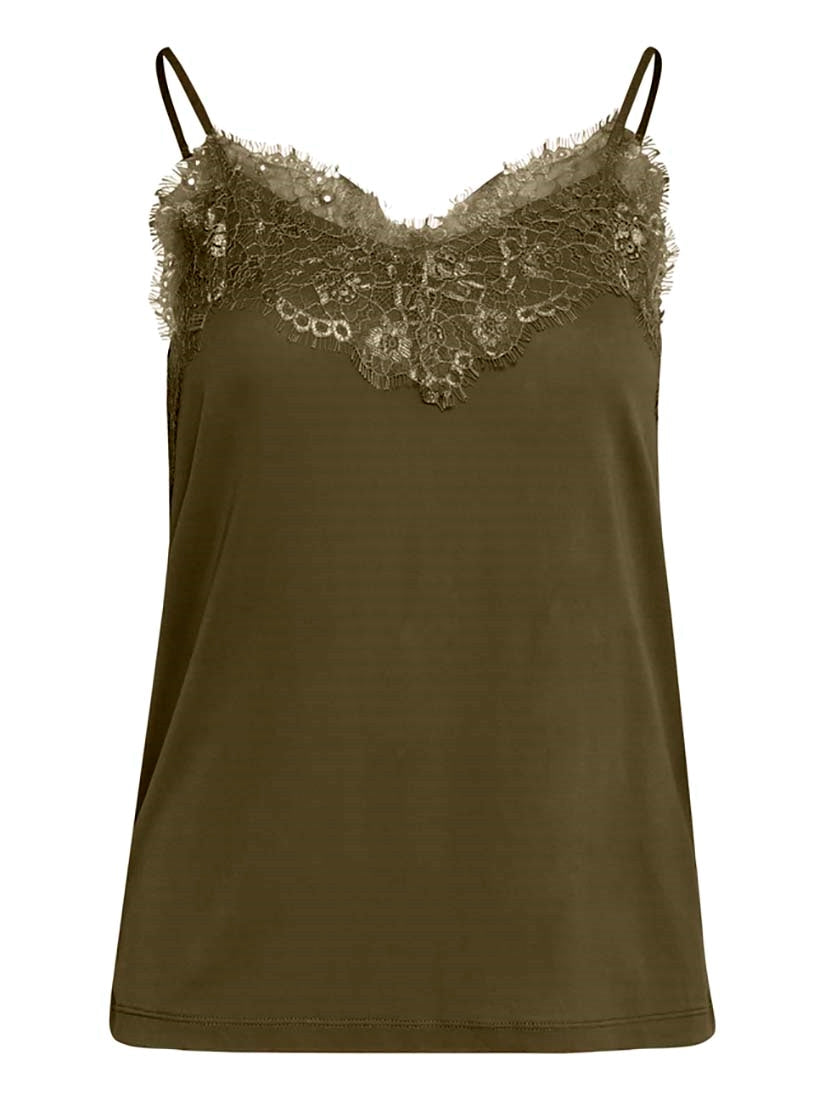 LIKE cami top - dark olive