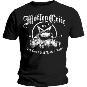 Motley Crue You Can't Kill Rock & Roll graphic band tee - black