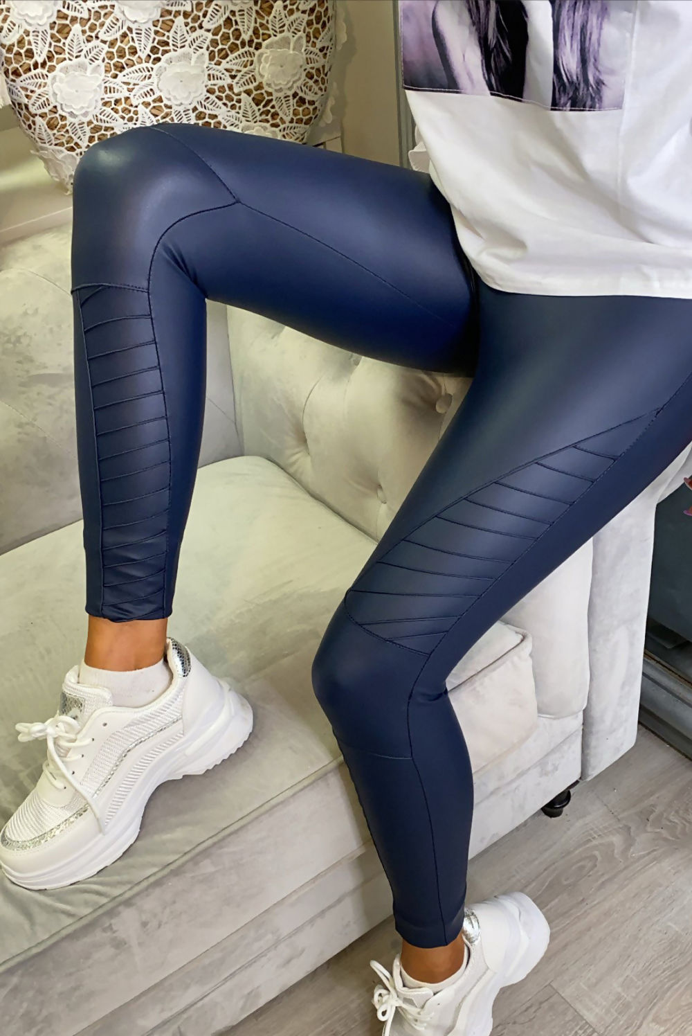 JAX Biker Leggings - Navy
