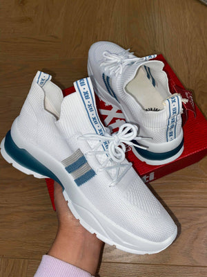 Xti Pippa Trainer - White/Blue