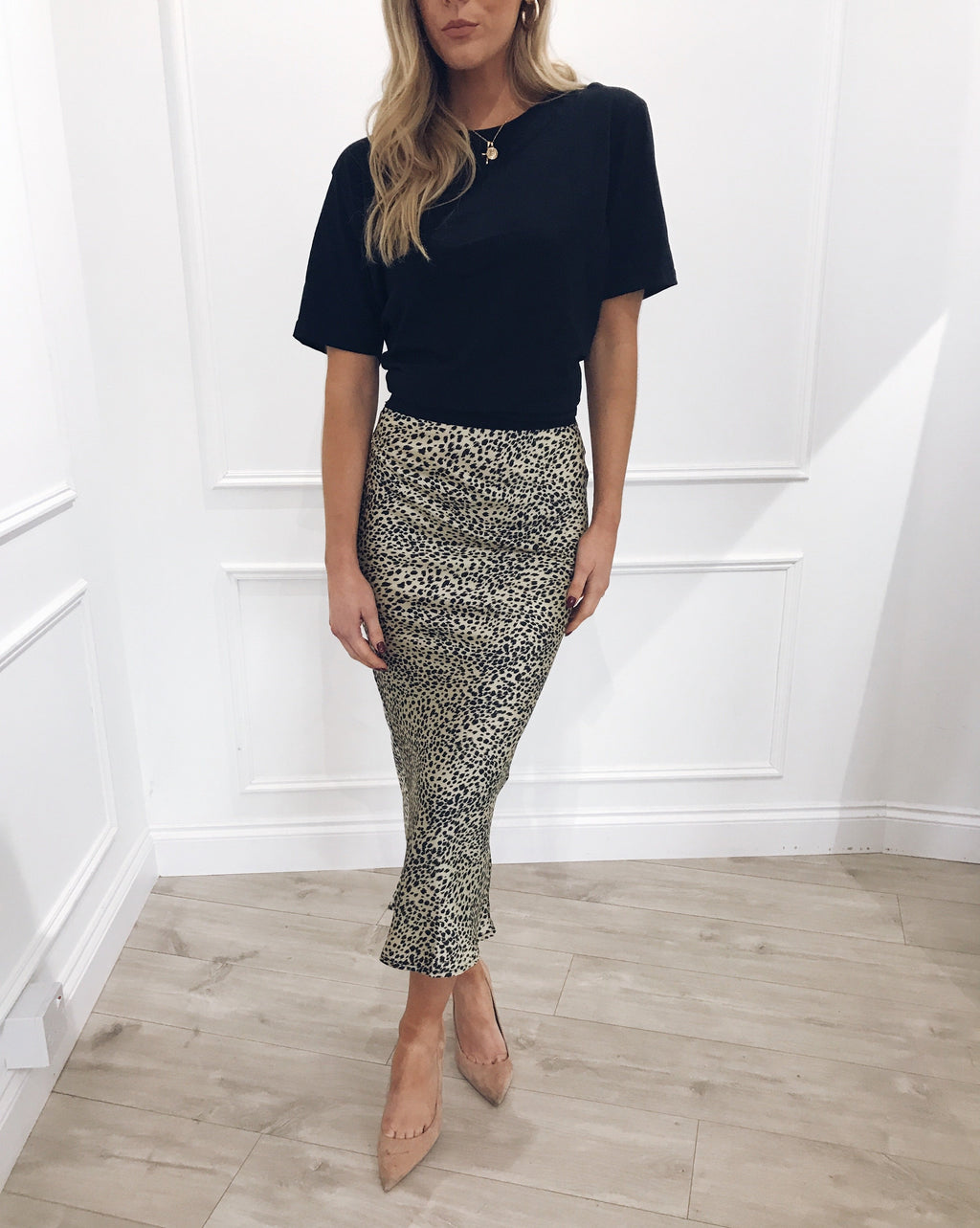 SHELBY animal print slip skirt