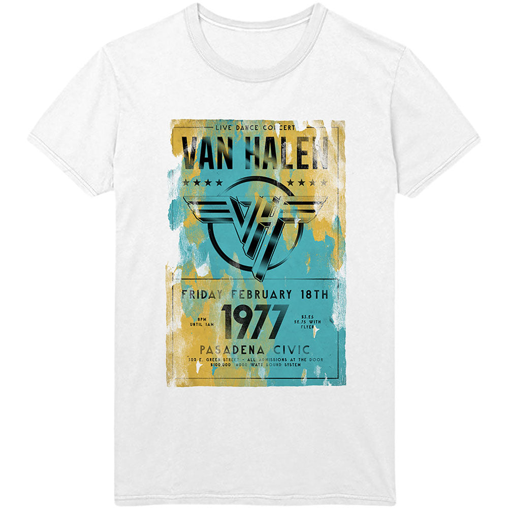 Van Halen 1977 poster graphic band tee