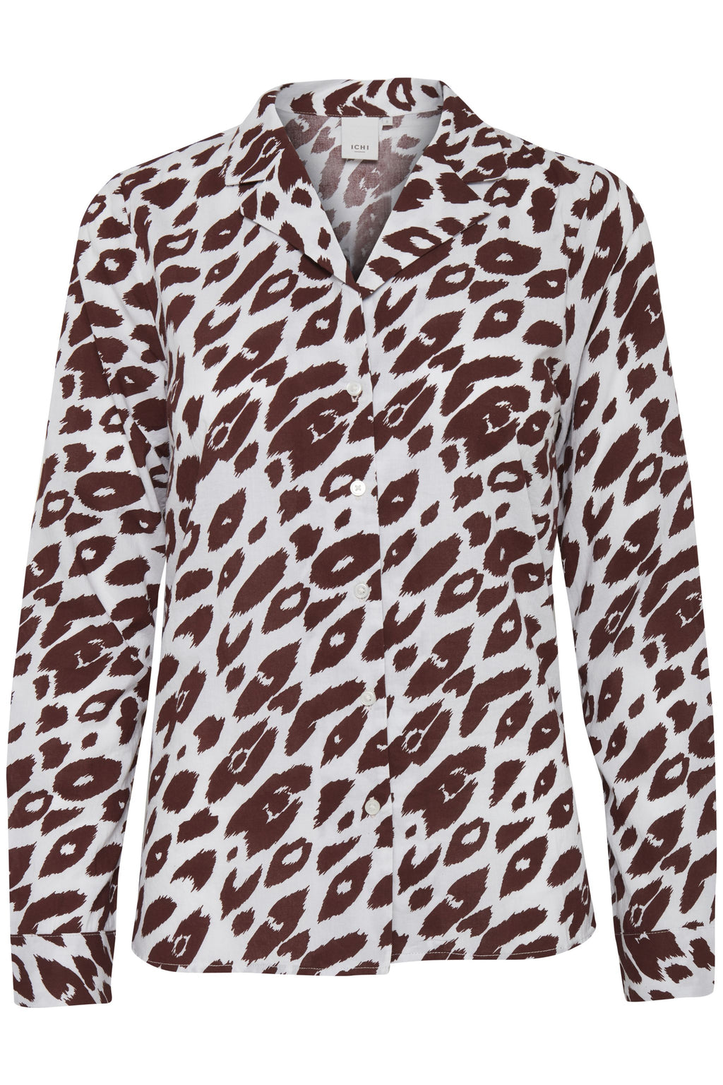 VIBEKE long sleeve animal print bowler shirt - andorra