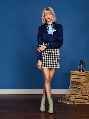 STARBOARD tweed mini skirt