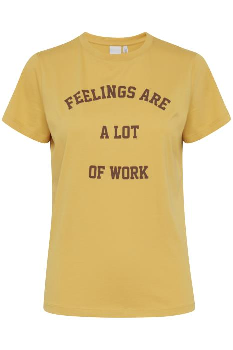 ANGELA slogan tee yolk yellow