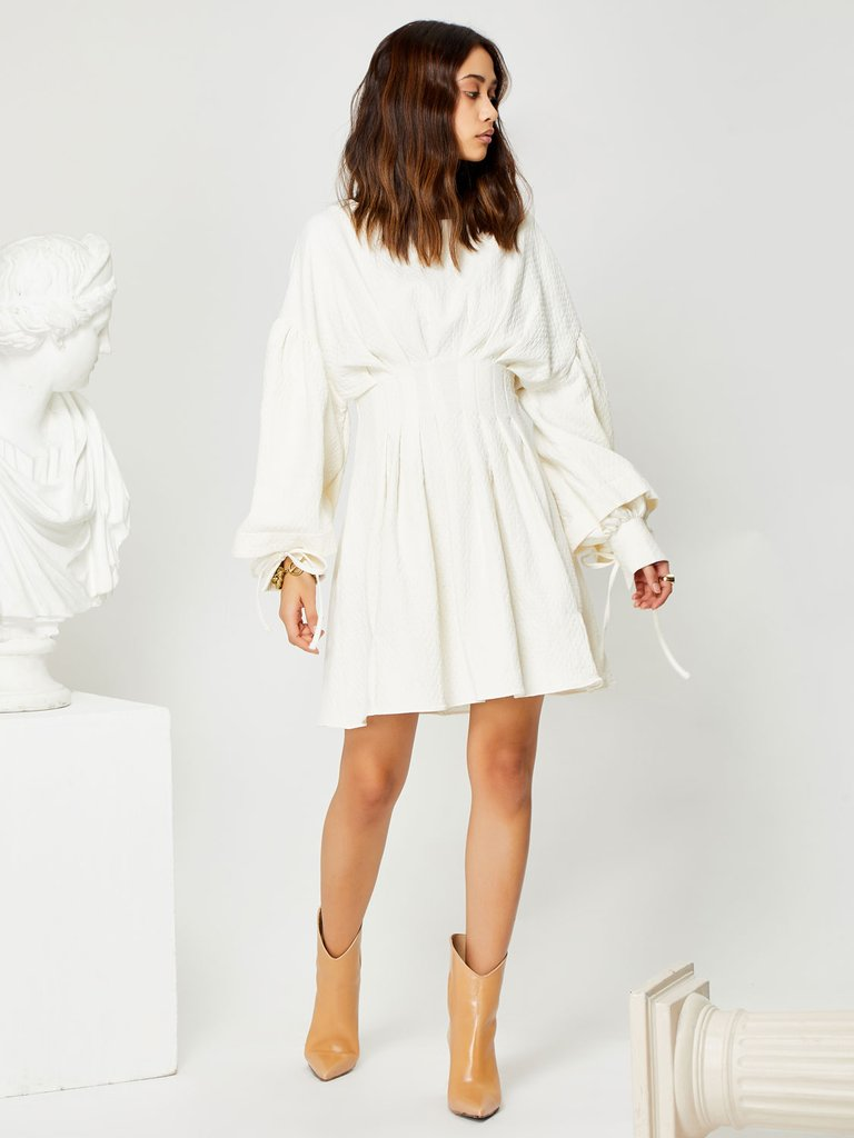 Artisan mini dress - ivory