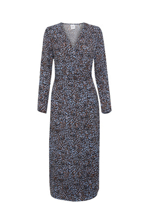 BARBARA animal print wrap dress
