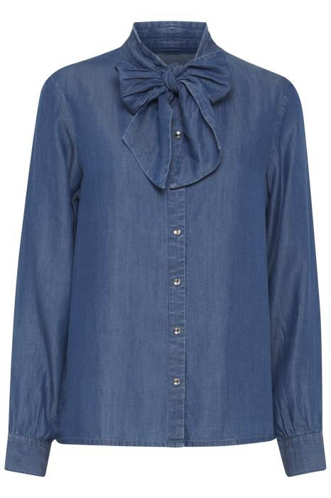 BARONI co-ord pussybow blouse - dark blue