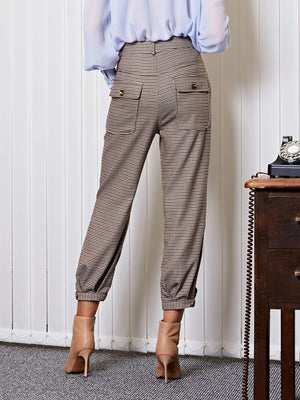 BOSS balloon seamed trousers - brown
