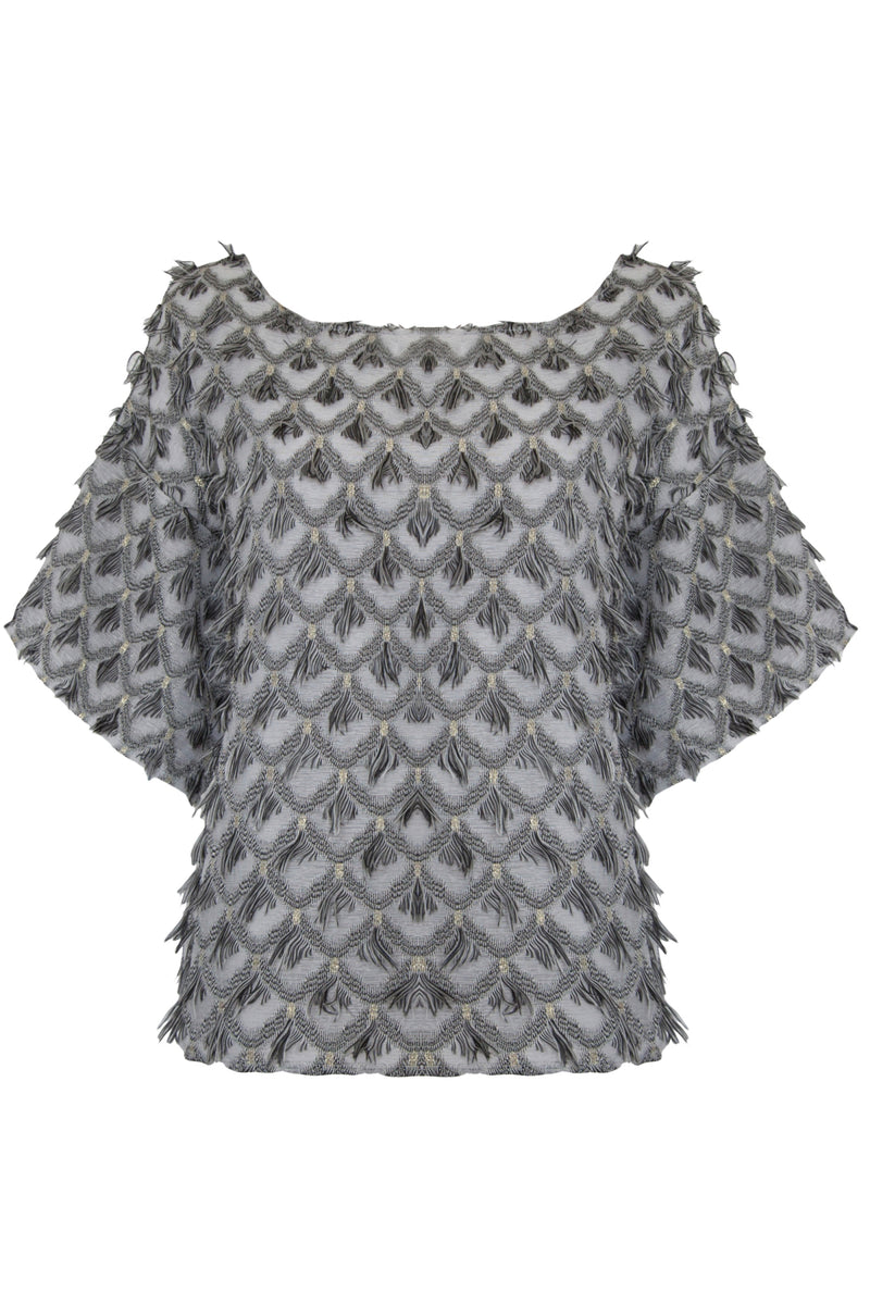 BOWIE top - grey