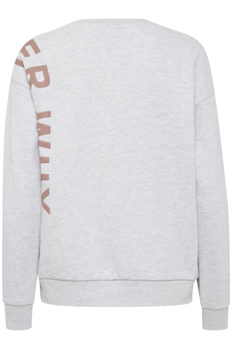 BOX 'Wonder Why' sweatshirt - grey melange