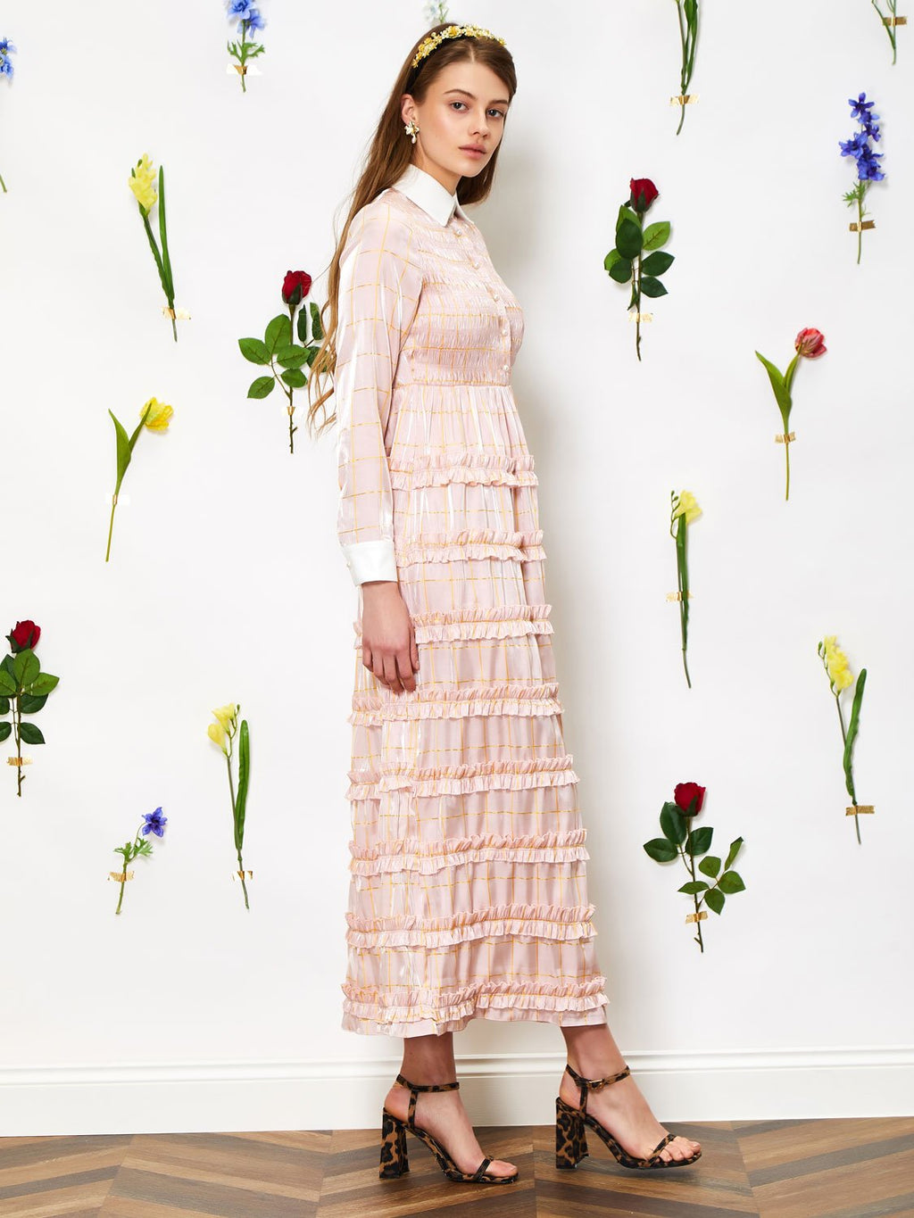 Cheek To Cheek ruffle dress - rose quartz