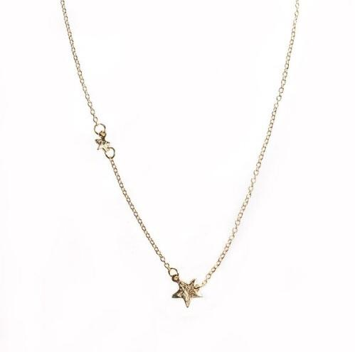 Seeing stars delicate necklace - gold plated.