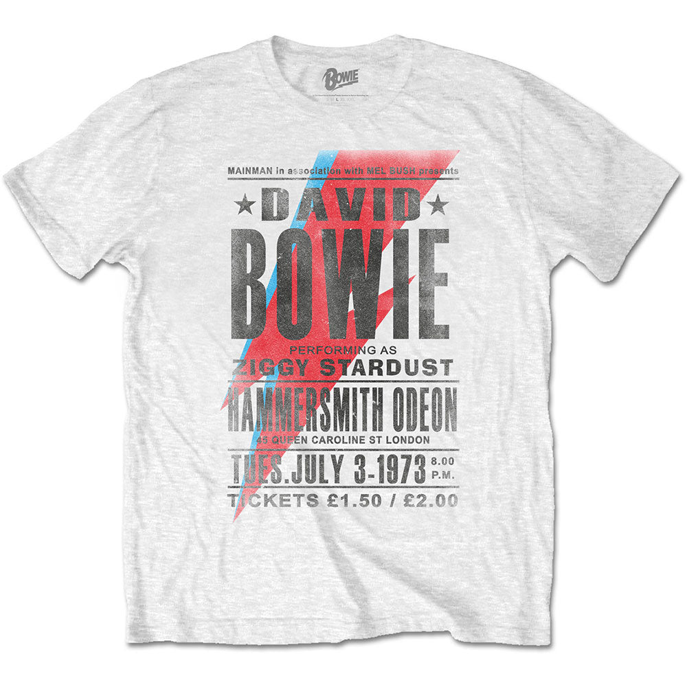 David Bowie 1973 poster graphic band tee